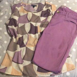 Purple Banana/Gap outfit